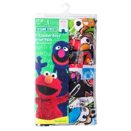 Sesame Street Elmo 7-pk. Briefs - Toddler Boy