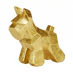 Madison Park Gold Finish Scottish Terrier Table Decor