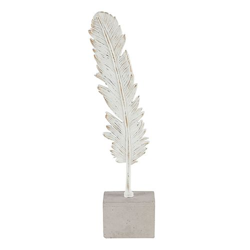 Madison Park Cement Feather Table Decor