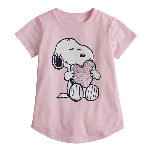 Toddler Girl Jumping Beans® Peanuts Snoopy Glitter Heart Graphic Tee