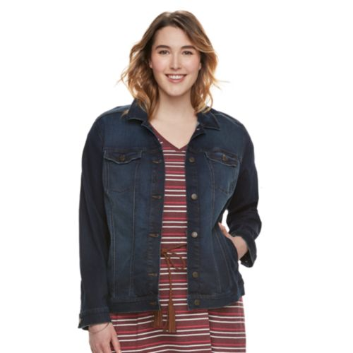 Plus Size Sonoma Goods For Life Jean Jacket