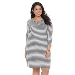 Plus Size SONOMA Goods for Life™ Stripe T-Shirt Dress
