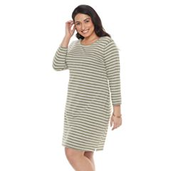 Plus Size SONOMA Goods for Life™ Stripe T-Shirt Dress