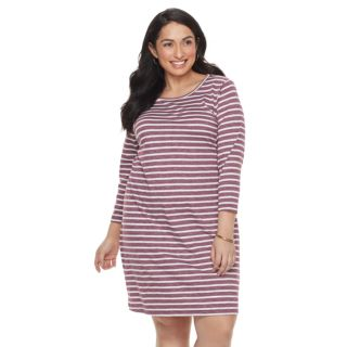Plus Size SONOMA Goods for Life? Stripe T-Shirt Dress