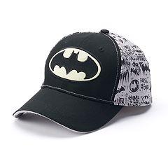 Boys 4-20 DC Comics Batman Glow in the Dark Baseball Hat