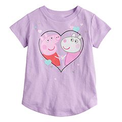 Toddler Girl Jumping Beans® Peppa Pig & Suzy Sheep Glitter Heart Graphic Tee