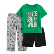 "Toddler Boy Carter's 3-pc. ""Let's Get Wild"" Safari Pajama Set"