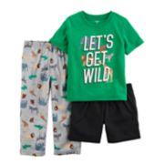 "Toddler Boy Carter's 3-pc. ""Let's Get Wild"" Safari Pajama Set"