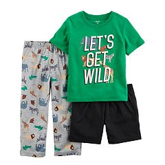 Toddler Boy Carter's 3 pc 'Let's Get Wild' Safari Pajama Set