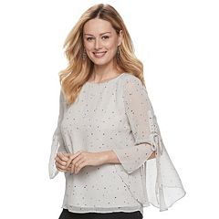 Women's Apt. 9® Chiffon Lace-Up Top