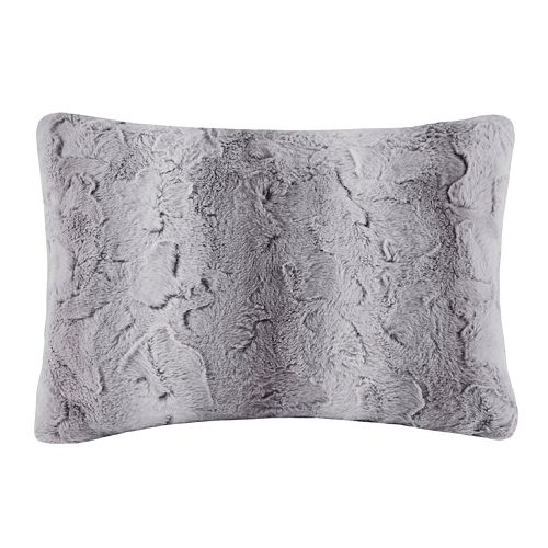 Madison Park Marselle Faux Fur Oblong Throw Pillow