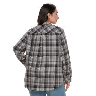 Plus Size SONOMA Goods for Life? Flyaway Shirt Cardigan