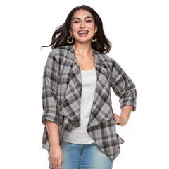 Plus Size SONOMA Goods for Life™ Flyaway Shirt Cardigan