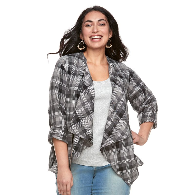 a43a339834e Plus Size SONOMA Goods for Life™ Flyaway Shirt Cardigan