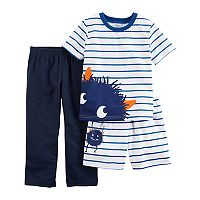 Toddler Boy Carter's 3 pc Monster Striped Pajama Set