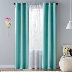 SONOMA Goods For LifeTM Kids Solid Blackout 2 Pack Window Curtains