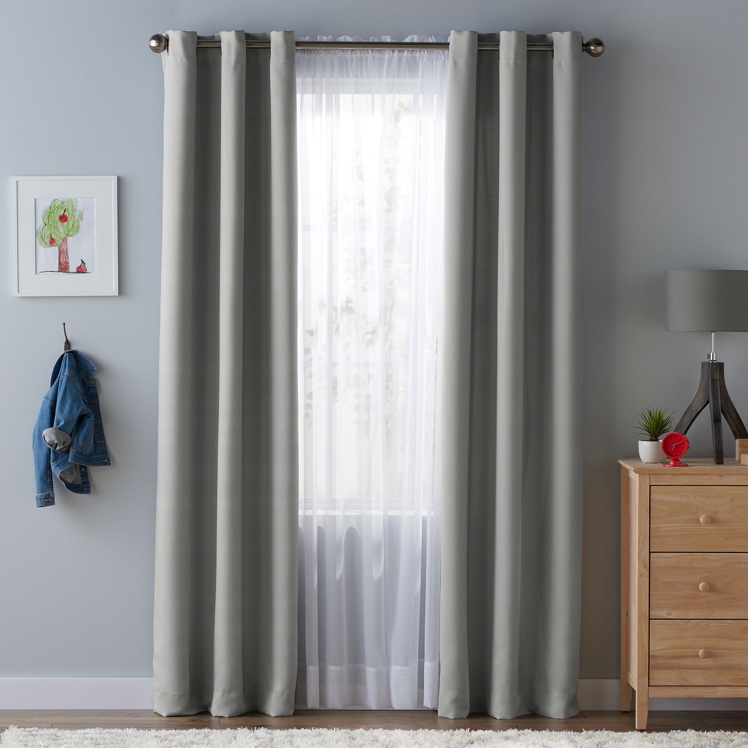 SONOMA Goods For Life™ Kids Solid Blackout 2 Pack Window Curtains