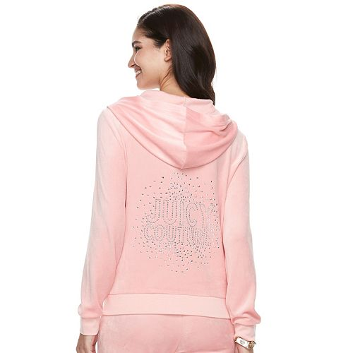 Women's Juicy Couture Graphic Velour Hooded Jacket