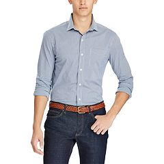Men's Chaps Classic-Fit Gingham Stretch Easy-Care Woven Button-Down Shirt