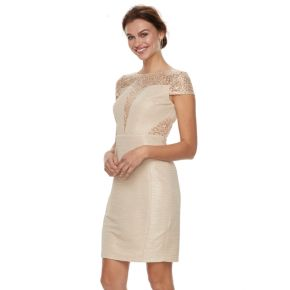 Petite Chaya Lace & Sequin Cap Sleeve Dress