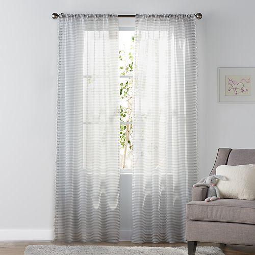 SONOMA Goods for Life™ Kids Stripe & Tassel 2-pack Window Curtains