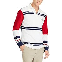 Men's Chaps Classic-Fit Striped Rugby Polo