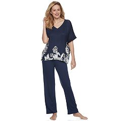 Women's Apt. 9® Lace Trim Tee & Pants Pajama Set