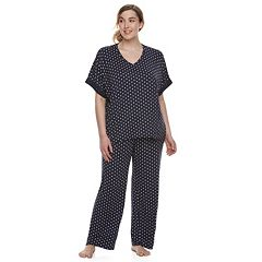 Plus Size Apt. 9® Lace Trim Tee & Pants Pajama Set