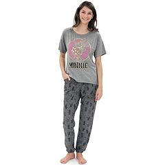 Disney's Minnie Mouse Juniors' Pajamas: Graphic Tee & Pants PJ Set