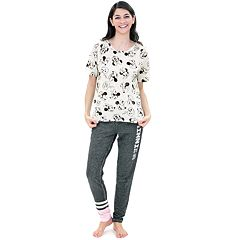Disney's Minnie Mouse Juniors' Pajamas: Short Sleeve Tee & Pants PJ Set