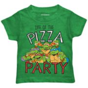 "Toddler Boy Teenage Mutant Ninja Turtles ""Life of the Pizza Party"" Graphic Tee"