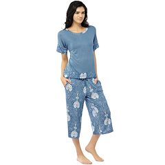 Women's INK+IVY Pajamas: Bohemian Nights Short Sleeve Tee & Capris PJ Set
