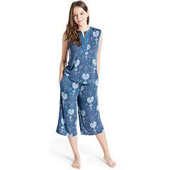 Women's INK+IVY Pajamas: Bohemian Nights Tank & Capris PJ Set