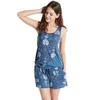 Women's INK+IVY Pajamas: Bohemian Nights Tank & Shorts PJ Set