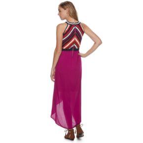 Petite Chaya Crochet High-Low Maxi Dress