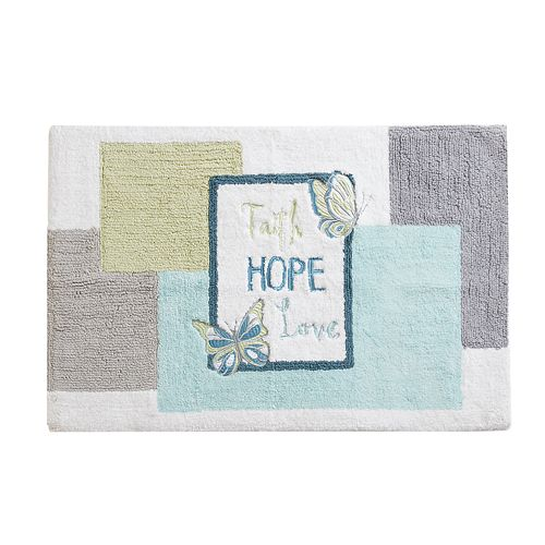 Madison Park Inspiration Embroidered Cotton Tufted Bath Rug