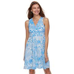 Petite Chaya Printed Lace Sleeveless Dress