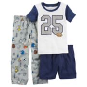 "Baby Boy Carter's ""25"" Football & Sports Top, Shorts & Pants Pajama Set"