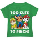 "Toddler Boy Paw Patrol Rubble, Chase & Marshall ""Too Cute To Pinch"" Graphic Tee"