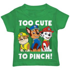 """Toddler Boy Paw Patrol Rubble, Chase & Marshall """"Too Cute To Pinch"""" Graphic Tee"""