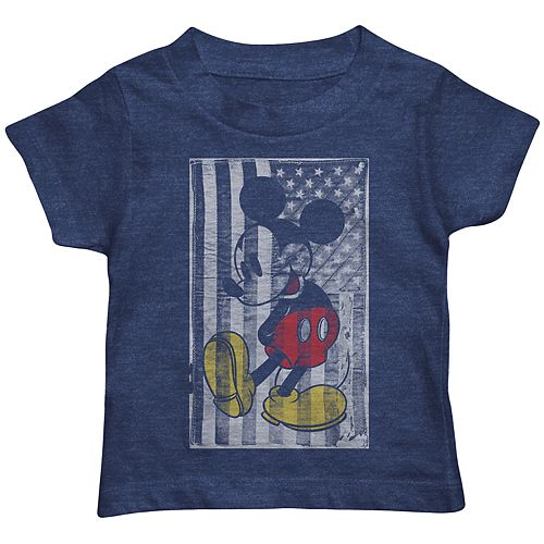 Disney's Mickey Mouse Toddler Boy Flag Graphic Tee