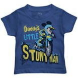 "Disney's Mickey Mouse Toddler Boy  ""Daddy's Little Stunt Man"" Graphic Tee"