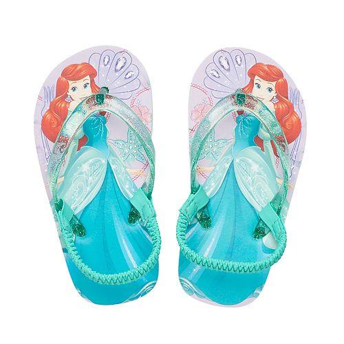8bf302336 Disney s Ariel Toddler Girl Thong Flip Flop Sandals