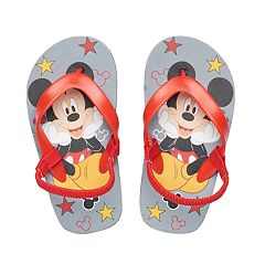 Disney's Mickey Mouse Toddler Boy Red Thong Flip Flop Sandals
