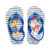 Toddler Boy Paw Patrol Chase & Marshall Thong Flip Flop Sandals