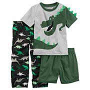 Baby Boy Carter's 3 pc Dinosaur T-Rex Pajama Set