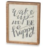 "Rustic ""Be Happy"" Box Sign Wall Art"