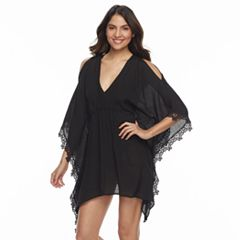 Women's Beach Scene Gauze Caftan Cover-Up
