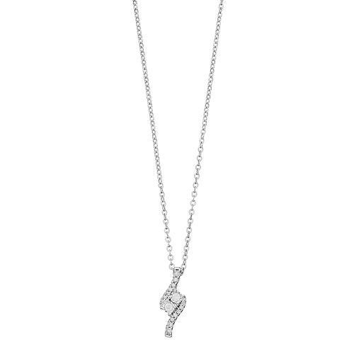 Sterling Silver 1/4 Carat T.W. Diamond 2-Stone Pendant