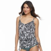 Women's Beach Scene Blouson Tankini Top